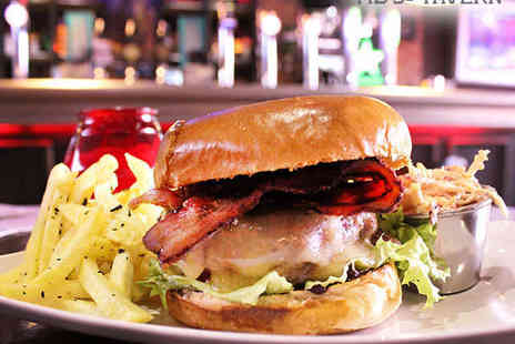 Tib Street Tavern - Burger or Hot Dog Meal with Homemade Coleslaw and Seasoned Fries for Two - Save 59%