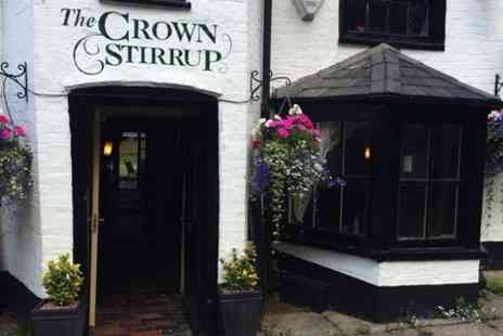 The Crown Stirrup Pub - Two Course Meal For Two  - Save 0%