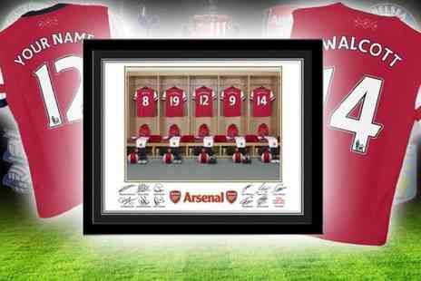 UR in the Paper - Framed dressing room photo of your football team personalised  - Save 56%