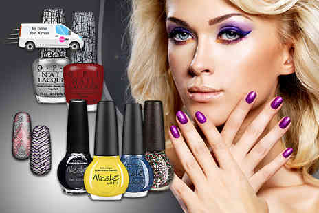 Look N Style - Four piece OPI nail set including polishes and nail wrap - Save 75%