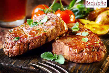 Brasserie 19 - Steak Meal for Two with a Carafe of Wine - Save 63%