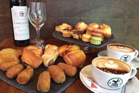 Casa Amiga - Portuguese Afternoon Tea for Two with a Glass of Wine  - Save 59%