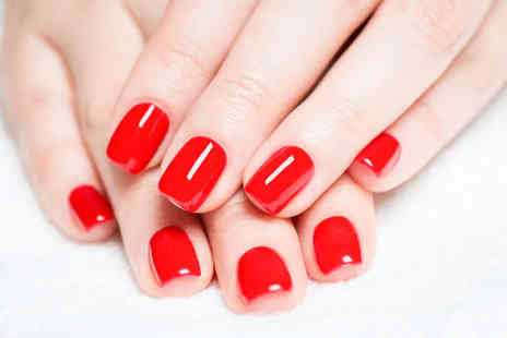 Sparkle Treatments - File and Shellac Polish, Luxury Manicure or Pedicure with Shellac Polish  with Shellac Colour - Save 64%