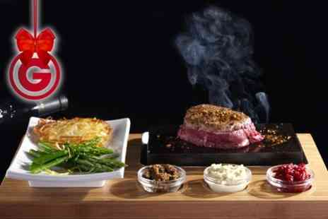 Rangos - Hot Stone Steak Meal With Wine For Two  - Save 53%