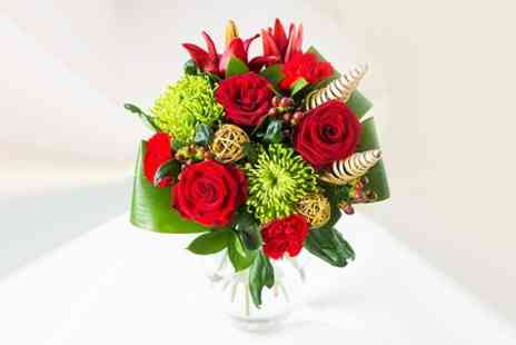 Flowers & Hampers Direct - Christmas Flower Bouquet in Choice of Arrangement - Save 50%