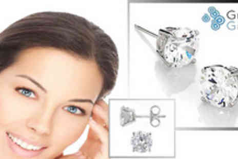 Groovy Gifts - Glittery Sterling Silver Stud Earrings - Save 70%