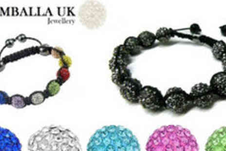 Shamballa UK - Your Choice of Either a Multi Coloured, Black or Silver Shamballa UK Bracelet - Save 81%