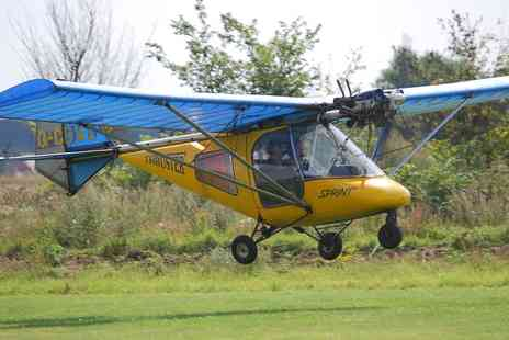 Bedford Microlight Airsports - One Hour Microlight Lesson with 30 Minutes in the Air - Save 51%