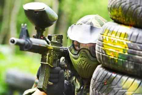 Ontarget Paintball - Paintballing With Lunch For Five  - Save 87%