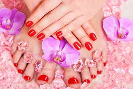 Elle Spa - Shellac Manicure or Pedicure or Both  - Save 52%