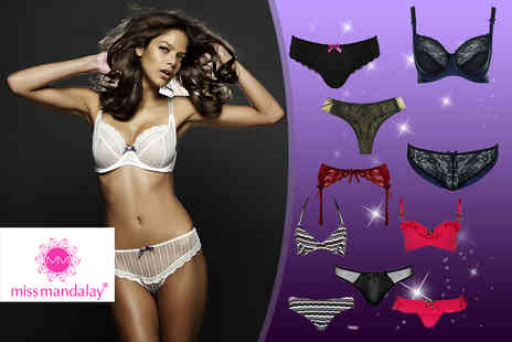 Miss Mandalay - £60 voucher to spend on lingerie - Save 67%