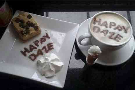 Happy Daze - Belgian Waffle With Ice Cream and Drink For Two  - Save 55%