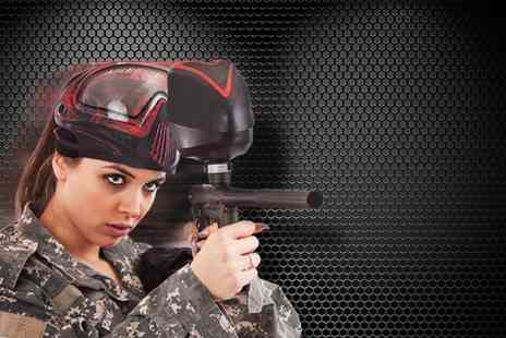BlackOps Reloaded - Paintballing experience for 5 including 100 paintballs each - Save 92%