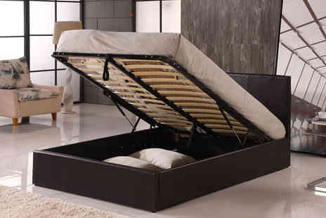 Euro Carpet Warehouse - Black Ottoman Bed Frame with Optional Mattress - Save 61%