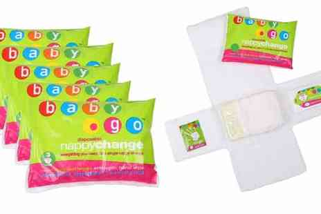 Klyne & Klyne - 5 x Baby Go Mat Wipes & Nappy Change Travel Kit - Save 46%