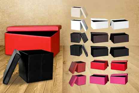 DIRECT FURNITURE SUPPLIERS - Ottoman storage cube in a choice of colours - Save 74%