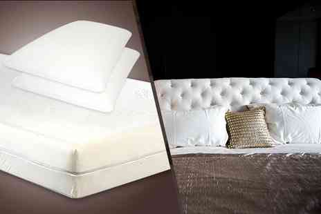 DIRECT FURNITURE SUPPLIERS - Single memory foam mattress & One pillow - Save 73%