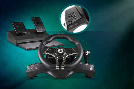 Hitari Trade - Officially licensed Hurricane steering wheel for PS3/PS4 including foot pedals - Save 0%