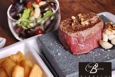 Barbacoa - Hot Stone Dinner with Choice of Meat and Two Sauces Each for Two - Save 53%