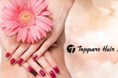 Toppers Hair Studio - Gellux Nails With Manicure - Save 70%