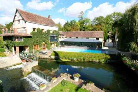 Le Moulin XII - Eure Valley Stay for 2 with breakfast and champagne Plus dinner and park visit  - Save 0%