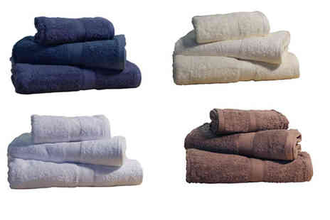 Textiles Direct - Five Piece Plain Towel Bale - Save 57%