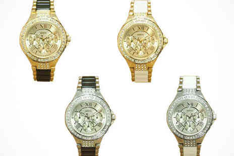 Vegas Style Watch - Ladies Vegas Style Watch Made with Swarovski Elements - Save 78%