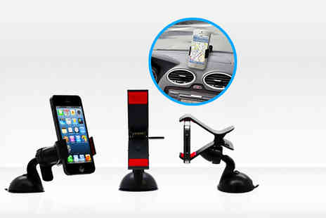 Click wrap - Universal in car windscreen mount phone holder - Save 75%