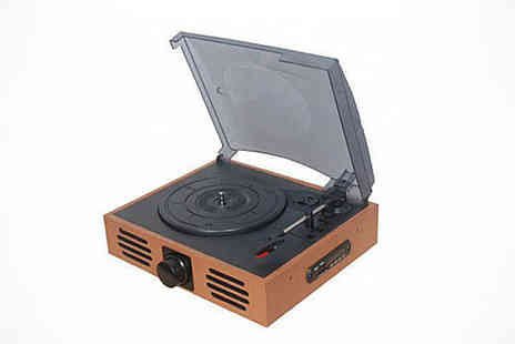 Retro Record - Retro Record Player with Built In Stereo Speaker, Delivery Included - Save 69%