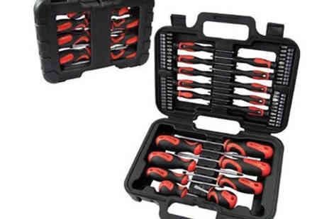 London Rattan - 58 Piece Screwdriver & Bit Tool Kit Set - Save 65%