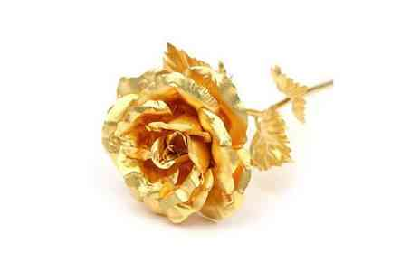 Spicy Decor - 24K Pure Gold Rose - Save 77%