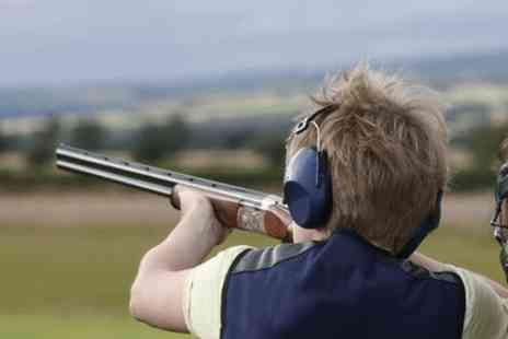 Cloudside Shooting Gardens - Clay shooting day with breakfast, hot drinks, club membership plus 50 clays & 50 cartridges - Save 71%