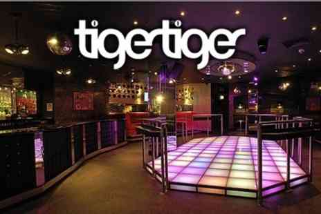 Tiger Tiger London - Three Course Meal, Two Drinks and VIP Booth for £13 - Save 63%