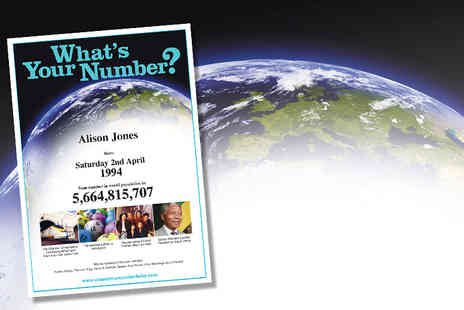 Whats Your Number Baby ? - Population Number Birth Certificate - Save 75%