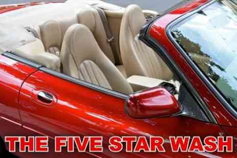 The Five Star Wash - Car Wash with Mini Valet and High Def Hand Wax for £12.95 - Save 78%
