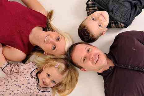 Ideal Photos One hour family photoshoot including three prints - Save 69%