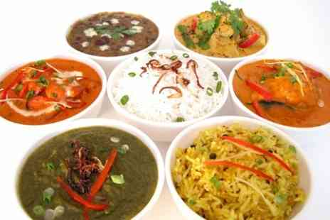 Taj Mahal - Indian Thali With Starter For Two - Save 66%