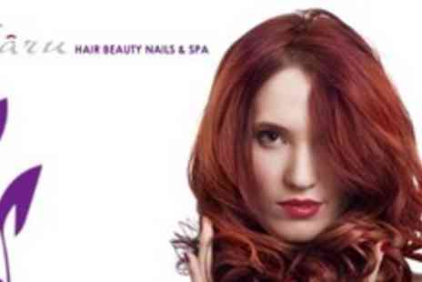 Charu Hair Beauty Nails & Spa - Full Head of Highlights or Colour With Restyle and Conditioning Treatment - Save 78%