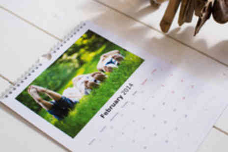 Huggler - A Choice of A3 or A4 Personalised Photo Wall Calendars - Save 63%