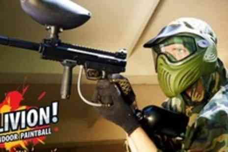 Camouflage Paintball - Paintball Experience With 100 Balls Each, Hotdog and Hot Drinks For Ten - Save 89%