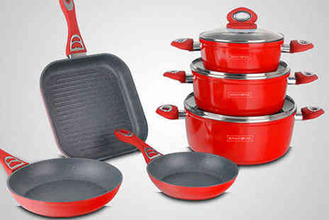 Dealquest - Non Stick Marble Coated Cookware Set - Save 67%