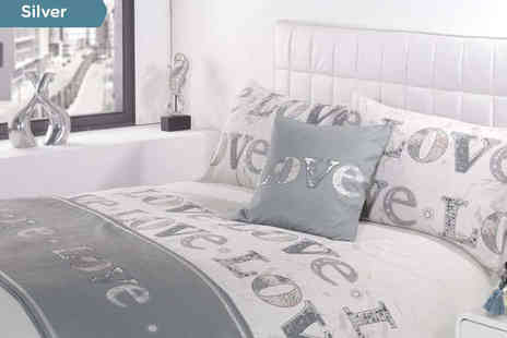 Love Duvet Set  - Love Duvet Set Delivery Included, Choose from Three Colours - Save 60%