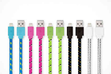 iPhone 3m Cable - iPhone 4/5/6 Three Metre Cable Choice of Colour, Delivery Included - Save 81%