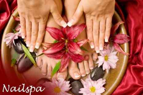 Nailspa - Gel Polish Manicure And Pedicure for £19 - Save 71%