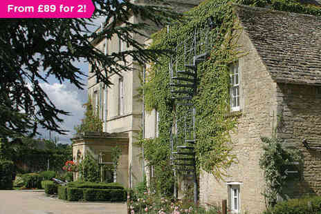 Stratton House Hotel - One Night Cotswolds Hotel Stay for Two with a Two Course Dinner on First Evening and Breakfast Daily - Save 0%