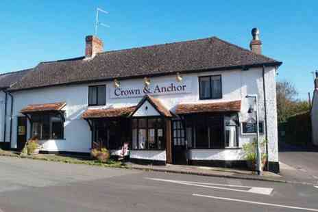 The Crown and Anchor - Two Course Meal With Wine or Beer For Two - Save 57%