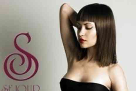 Sejour - Half Head of Highlights or Full Head of Semi Permanent Colour Plus Cut, Blow Dry, and Kerastase Treatment - Save 73%