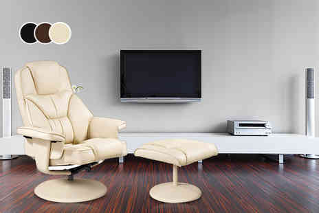 Fancy Suits - Milano luxury swivel chair and matching footstool - Save 74%