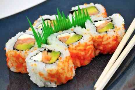 Sakushi - Eight Plates of Sushi For Two to Share  - Save 56%