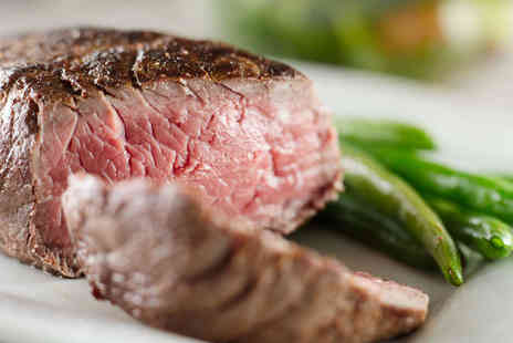 Redheads Steakhouse  - Two Course Meal with a Glass of Wine Each for Two  - Save 67%